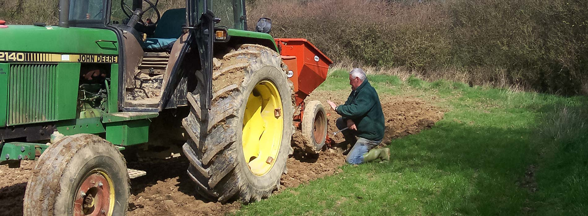 Potatoe planting at Rectory Barn Farm